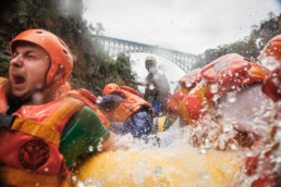 Extreme rafting on Zambezi