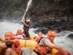 Extreme rafting on Zambezi