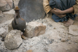 Coffee brewing on the streets of Lalibela, Ethiopia