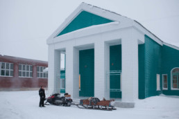 Museum in Lovozero, Russia. Chasing northern lights